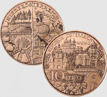 10 euro Austria 2013 - Regioni storiche: Wachau