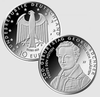 10 euro Germania 2013 - 200° nascita Georg Büchner