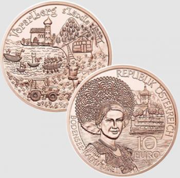 10 euro Austria 2013 - Regioni storiche: Vorarlberg