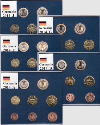 Serie Germania 2014 x 5 zecche A/D/F/G/J