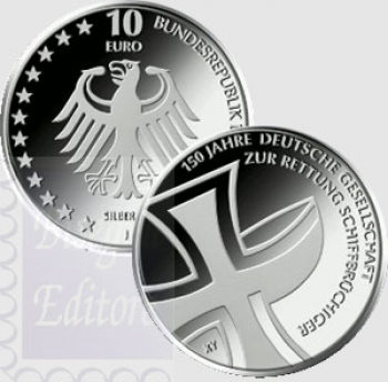 10 euro Germania 2015 -150°  Ass. salvataggi Mare