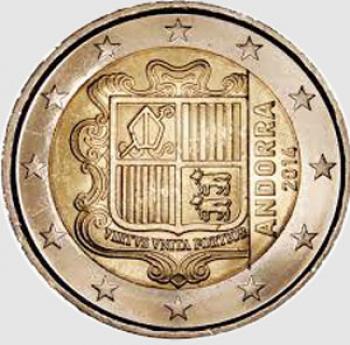 2 euro Andorra 2014 - Stemma Nazionale