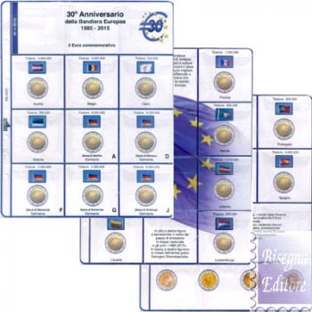(M)Pagine raccoglitrici 2 euro commemorativi 2015 - 30 Anni Bandiera Europea