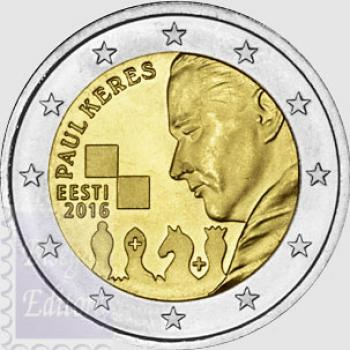 2 euro Estonia 2016 - 100.mo ann. Paul Keres