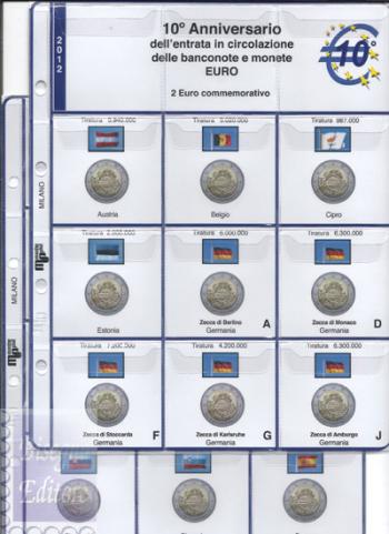 (M)Pagine raccoglitrici 2 euro 2012 - 10° Anniversario Euro