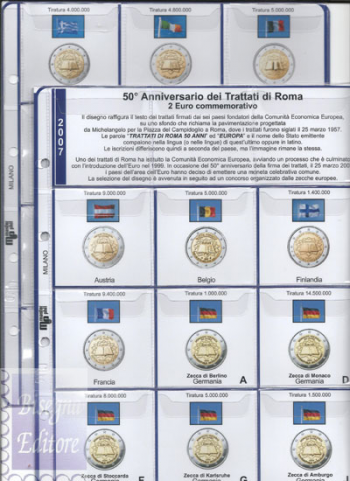 (M)Pagine raccoglitrici 2 euro 2007 - Trattati di Roma