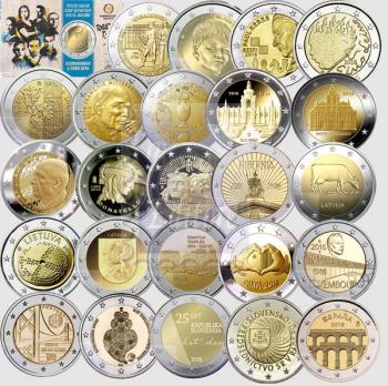 Collezione Completa - 2 Euro commemorativi 2016 ( 25 monete )