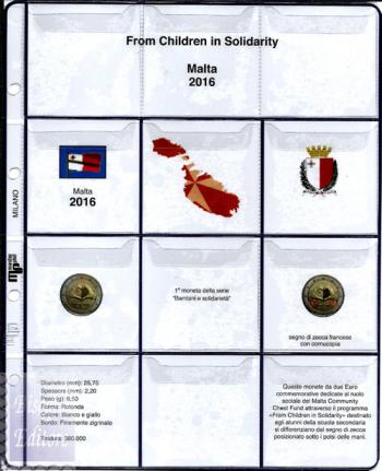 (M)Pagine raccoglitrici 2 euro Malta 2016 - Amore