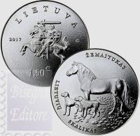 1,5 EURO LITUANIA - CAVALLI E CANI LITUANI