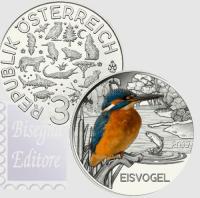 3 EURO AUSTRIA 2017 IV EMISSIONE - MARTIN PESCATORE