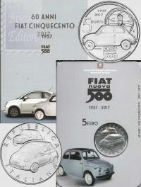 5 EURO ITALIA 2017 - 60.MO ANNIVERSARIO FIAT 500