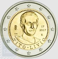 ITALIA 2 EURO 2017 - 2000.MO ANNIV. MORTE TITO LIVIO