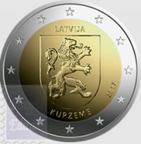 LETTONIA 2 EURO 2017 - REGIONI STORICHE CURLANDIA E LETGALLIA