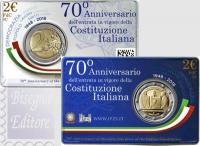 2018 - ITALIA 2 EURO COINCARD 2018 - 70°ANNIV. COSTITUZIONE ITALIANA