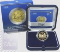 2018 - ITALIA  2 EURO PROOF 2018 - 70° ANNIV. COSTITUZIONE ITALIANA