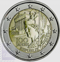 2018 - 2 EURO AUSTRIA 2018 - REPUBBLICA AUSTRIACA