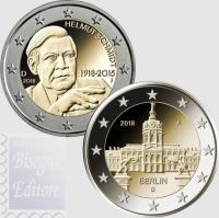 2 EURO GERMANIA 2018 - HELMUT SCHMIDT E CASTELLO CHARLOTTENBURG