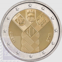2 EURO COMMEMORATIVO 2018 - 100°ANNIV. STATI BALTICI 2018
