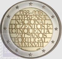 2 EURO PORTOGALLO 2018 - 25° ANNIV. IMPRENSA DE MOEDA