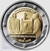 2 EURO ITALIA 2018 - 70.mo ANN. COSTITUZIONE ITALIANA