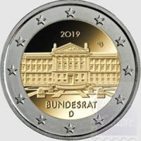 2 EURO GERMANIA 2019 - 70° ANNIVERSARIO DEL BUNDESRAT