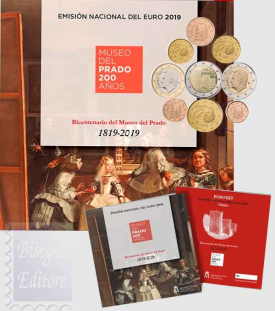 DIVISIONALE SPAGNA  2019 - 200 ANNI DEL MUSEO DEL PRADO