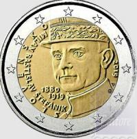 2 EURO SLOVACCHIA 2019 - 100° ANN.  MORTE  MILAN RASTISLAV ŠTEFANIC