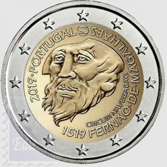 2 EURO PORTOGALLO 2019 - 500° ANN. CIRCUMNAVIGAZIONE MAGELLANO