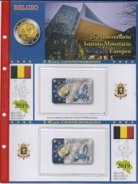 8760dd9c11 (A) Pagine raccoglitrici 2 euro Belgio Coincard 2019 (Doppia Versione) - IME
