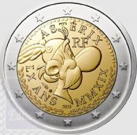 b01ddffeea Fior di conio in capsula BU - 2 euro Francia 2019 - 60° Ann. fumetto Asterix