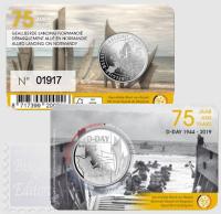 5 EURO BELGIO 2019 - 75° ANNIV. DELLO SBARCO IN NORMANDIA - D-DAY