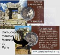 2 EURO MALTA 2019 - TEMPLI PREISTORICI DI TA' HAGRAT
