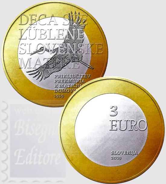 3 EURO SLOVENIA 2019 - CENTENARIO ADESIONE DELLA REGIONE TRANSMURANIA