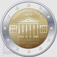 2 EURO ESTONIA 2019 - CENTENARIO FONDAZIONE UNIVERSITA' DI TARTU