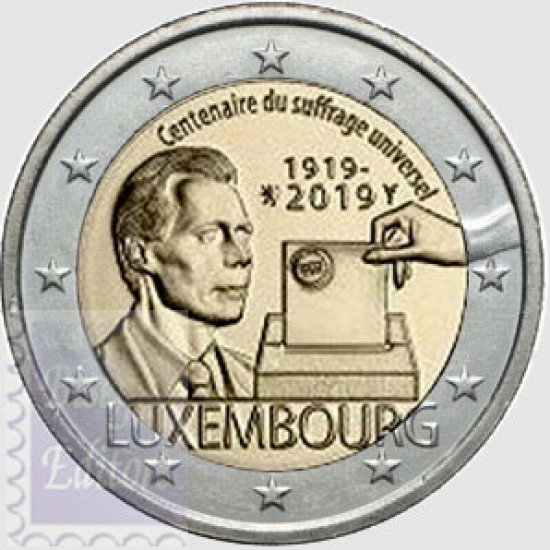 2 EURO LUSSEMBURGO 2019 - CENTENARIO DEL PRIMO SUFFRAGIO UNIVERSALE