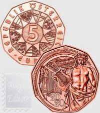 5 EURO AUSTRIA 2020 - 150° ANN.  DELLA  MUSIKVEREIN DI VIENNA