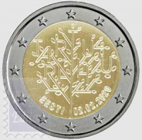 2 EURO ESTONIA 2020 - 100 ANNI DEL TRATTATO DI PACE DI TARTU