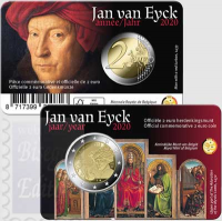 2 euro Belgio 2020 - 630° anniv. nascita Jan van Eyck