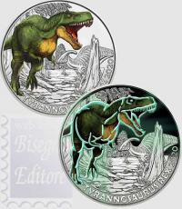 3 € Austria 2020 - Serie Animali Preistorici - Tyrannosaurus Rex