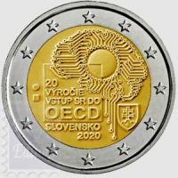 2 euro Slovacchia 2020 - 20° Ann. dell' adesione all'OCSE