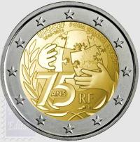 2 euro Francia 2021 - 75 anni dell'UNICEF