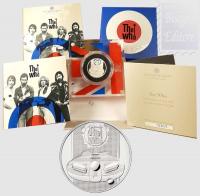 1 £ Gran Bretagna 2021 in scatola ufficiale e certificato ( 1/2 Oncia Ag.999/1000 PROOF) -  Music Legends : The Who