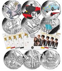 Prima serie Harry Potter - 9 monete 10€  Ag. Francia 2021