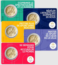 2 euro Francia 2021 - Olimpiadi Paris 2024