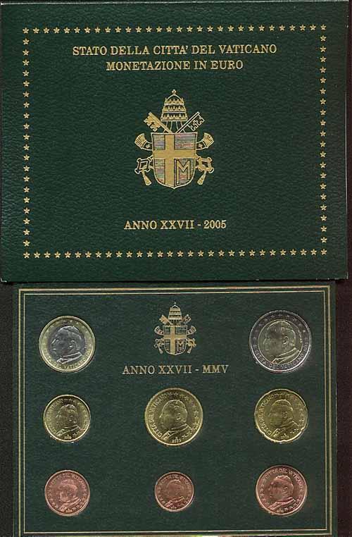 Monete Euro Divisionale Ufficiale Bu Vaticano 2005 Ss