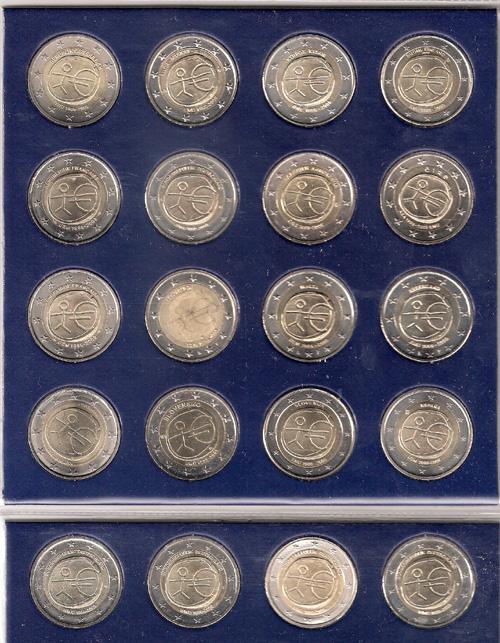 1804fbe0cb Monete Euro - Collezione completa 20 monete - 2 euro Commemorativi ...