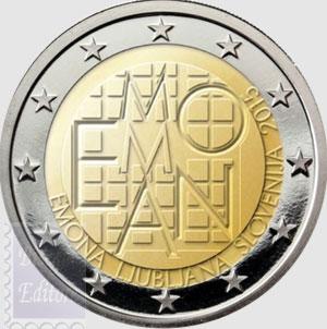 monete euro 2 euro slovenia 2015 fortezza di emona. Black Bedroom Furniture Sets. Home Design Ideas