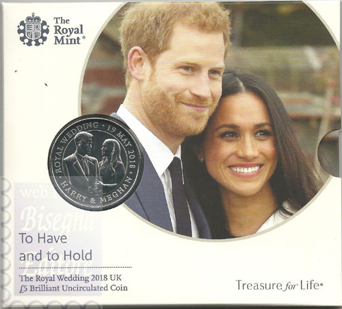 Confezione Ufficiale 5£ Royal Wedding 2018 - Matrimonio Reale Henry & Meghan