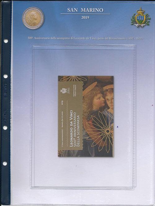 9c68a7439d (A) Pagine raccoglitrici 2 euro San Marino 2019 - 500° Scomparsa Leonardo  da Vinci