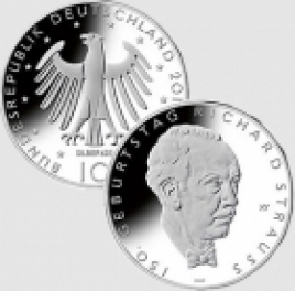 10 euro Germania 2014 - 150° nascita Richard Strauss